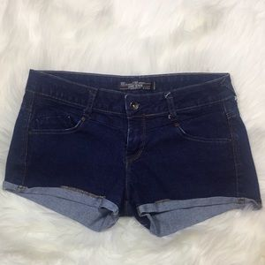Zara ted core denim cuffed shorts sz 6
